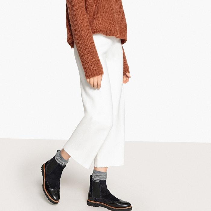 Pantalón ancho y tobillero, de punto  La Redoute Collections image 0