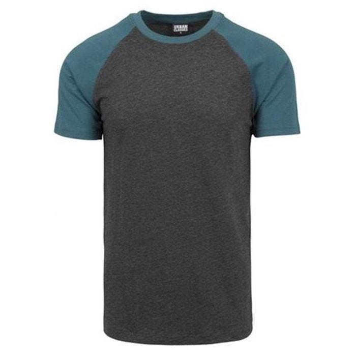 2021c2dda4b12 T-shirt manches raglan bicolore gris foncé Urban Classics   La Redoute