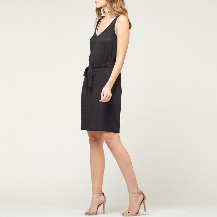 60b8eae2ad2ef Telly linen dress with narrow straps , black, Le Temps Des Cerises | La  Redoute
