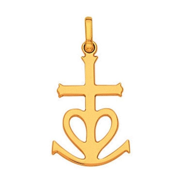 0d4514410b2e Pendentif croix camargue fil plat or jaune 750 000 So Chic Bijoux   La  Redoute