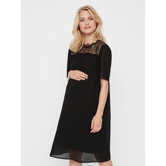 22561b0f72a Robe grossesse dentelle noir black Mama Licious