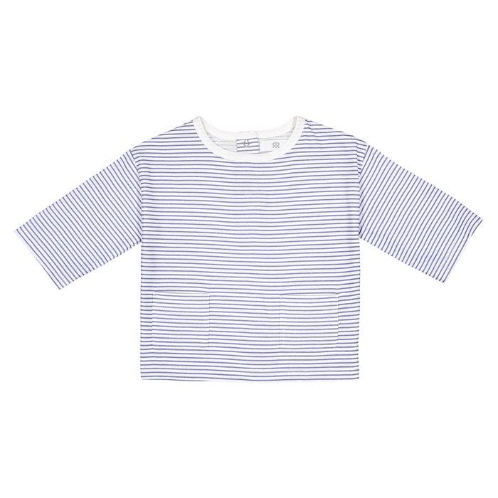 T-shirt righe brillanti con tasche 1 mese - 3 anni  La Redoute Collections image 0