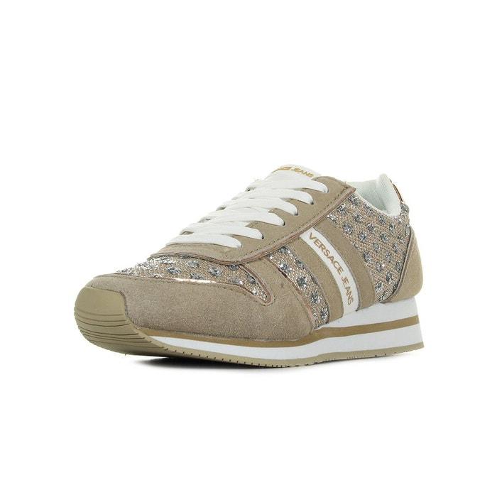 Baskets femme linea fondo stella dis1 suede glitter pois textile  beige-blanc-doré Versace  La Redoute