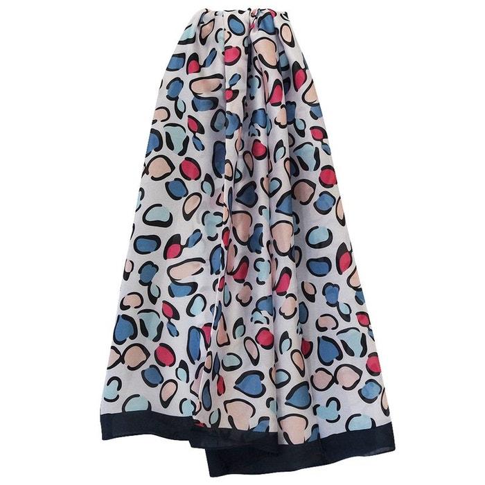 Grand foulard soie moucheté marine Chapeau-Tendance   La Redoute 0f860a0b396