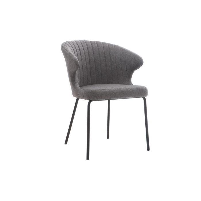 Chaise Design En Tissu Gris Fonc REQUIEM MILIBOO Image 0