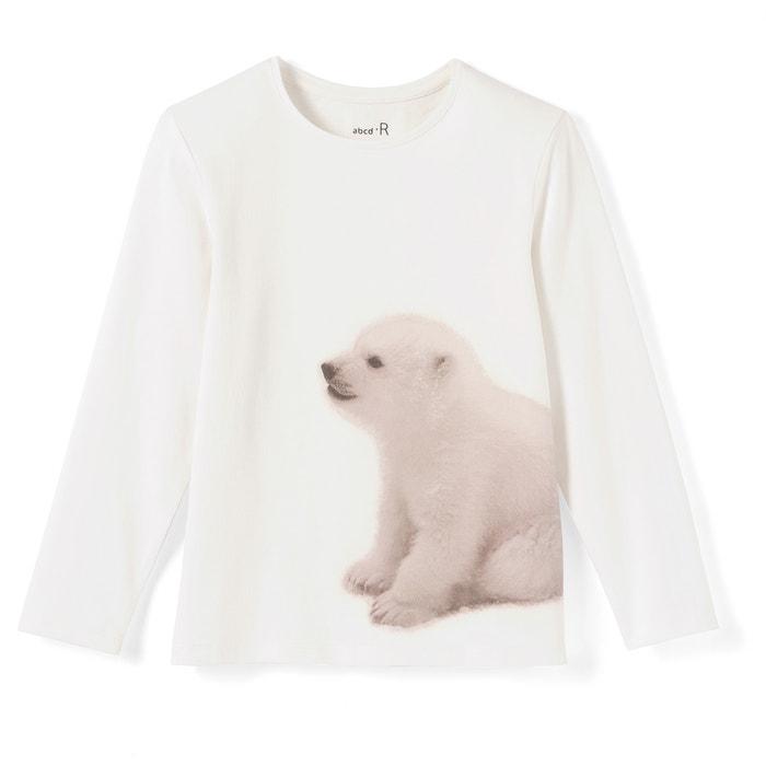 Image Tee shirt col rond imprimé, manches longues La Redoute Collections