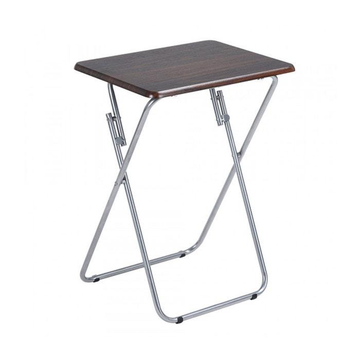 Table D Appoint Pliante En Bois Et Metal Calicosy La Redoute