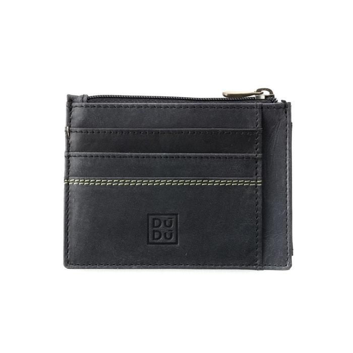 Porte cartes de cr dit porte monnaie pour homme en cuir vintage vieilli portefeuille slim avec - Porte carte de credit homme ...