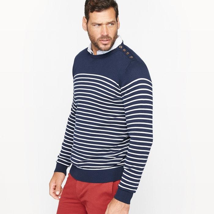 Image Sweter w paski z rozcięciem na guziki CASTALUNA FOR MEN