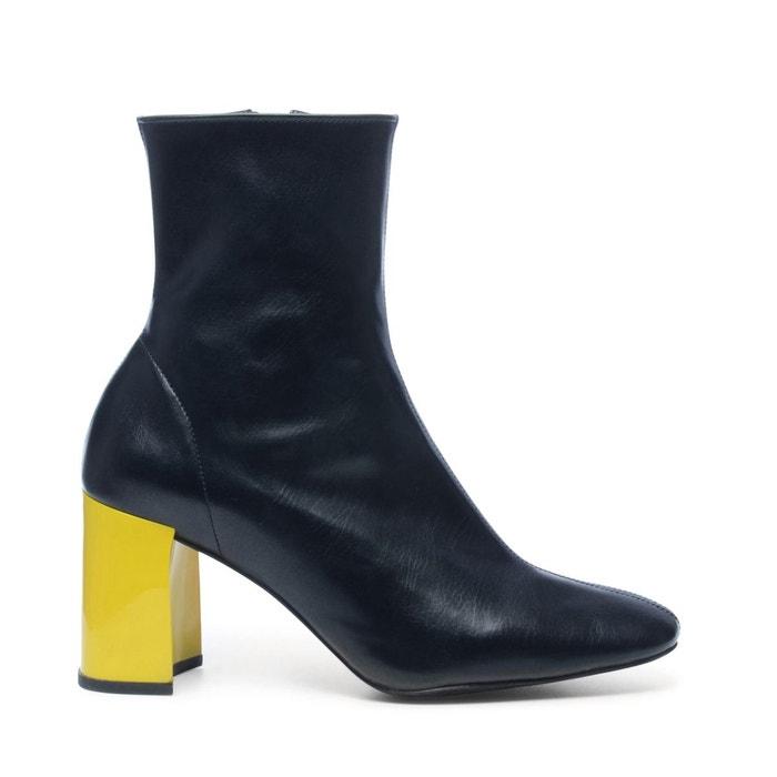 Jeffrey campbell bottines avec talon de 2 couleurs  noir Sacha  La Redoute