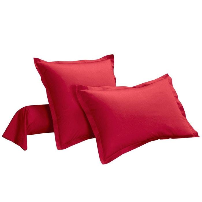 taie d 39 oreiller unie polycoton 57 fils i fil home la redoute. Black Bedroom Furniture Sets. Home Design Ideas