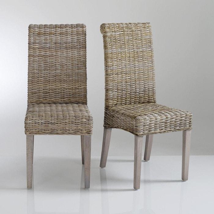 afbeelding Set van 2 stoelen in gevlochten kubu, Lunja La Redoute Interieurs