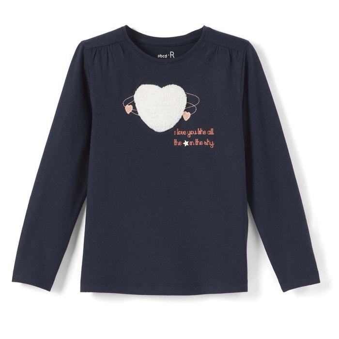 Image T-shirt cuore in bouclé da 3 a 12 anni La Redoute Collections