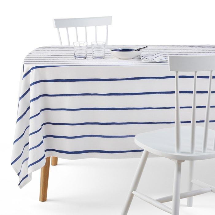 nappe imprim e coton gl nans la redoute interieurs blanc. Black Bedroom Furniture Sets. Home Design Ideas
