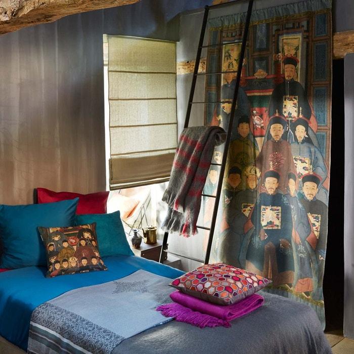 rideau coulisse coton dynastie gris fonc gris fonc madura la redoute. Black Bedroom Furniture Sets. Home Design Ideas