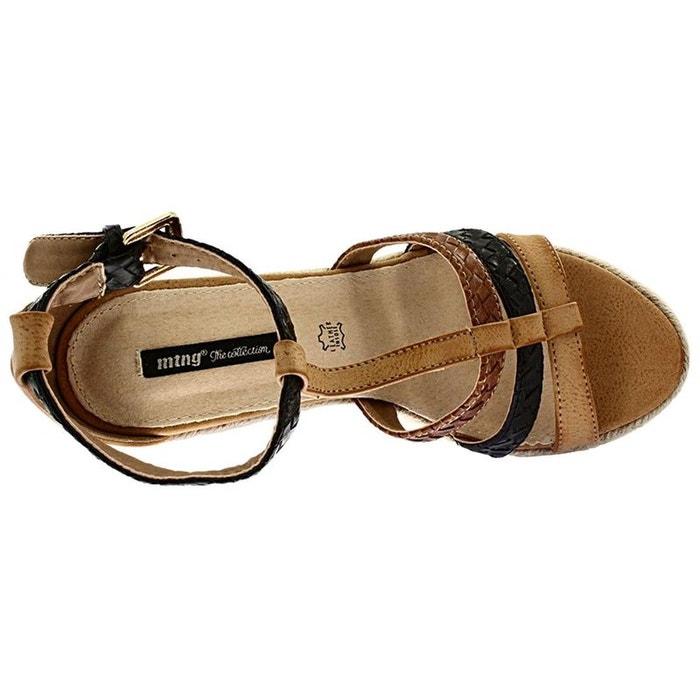 Sandales  /  nu-pieds synthetique  marron Mtng  La Redoute