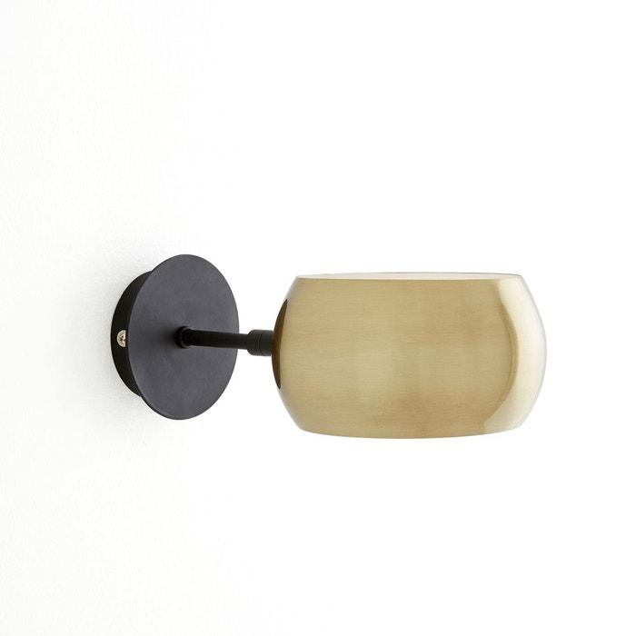 applique m tal noir et laiton elori noir laiton la redoute interieurs la redoute. Black Bedroom Furniture Sets. Home Design Ideas