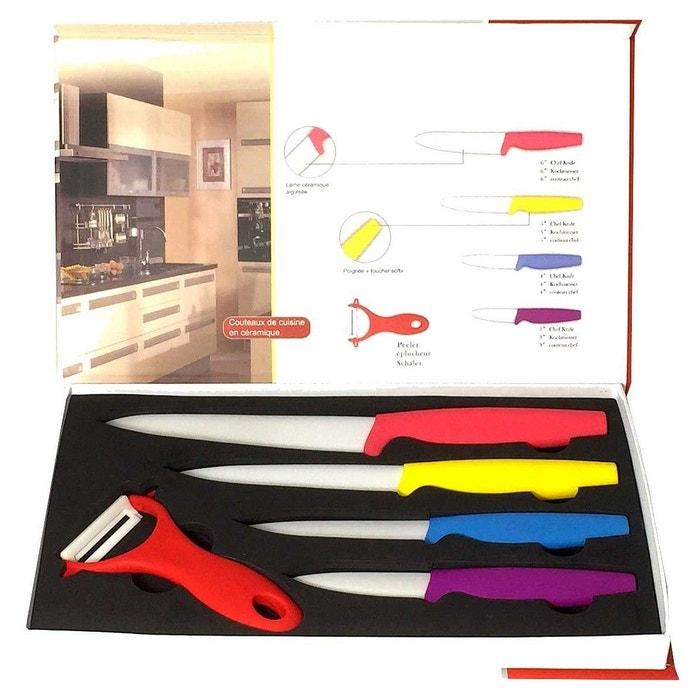coffret 5 pcs couteaux ceramique couleur 29913 noname image 0 - Coffret Couteau Ceramique