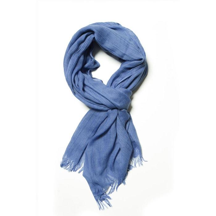 Echarpe unie bleu ciel bleu Carnet De Vol   La Redoute c585dbde4bc