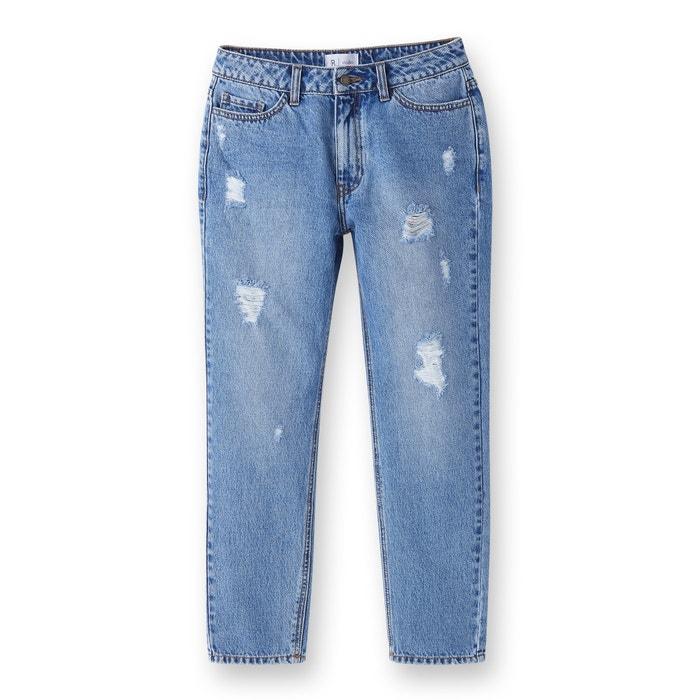 afbeelding Destroy boyfriend jeans La Redoute Collections