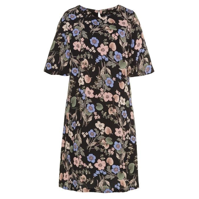 Floral Print Short-Sleeved Dress  ULLA POPKEN image 0