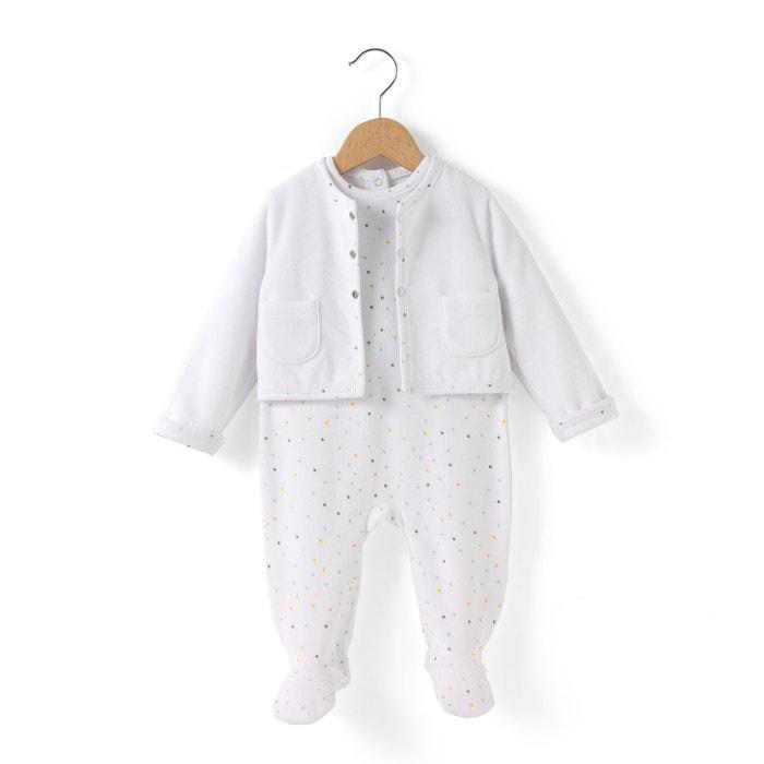Conjunto de 2 peças, pijama em veludo, 0-9 meses R édition