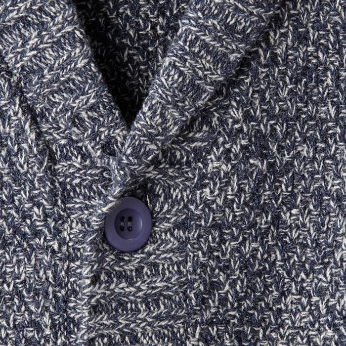 afbeelding Vest in getwijnd tricot met sjaalkraag CASTALUNA FOR MEN