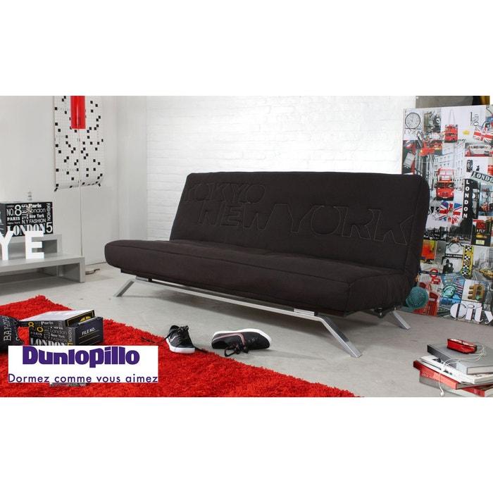 banquette lit clic clac letter matelas dunlopillo noir relaxima la redoute. Black Bedroom Furniture Sets. Home Design Ideas