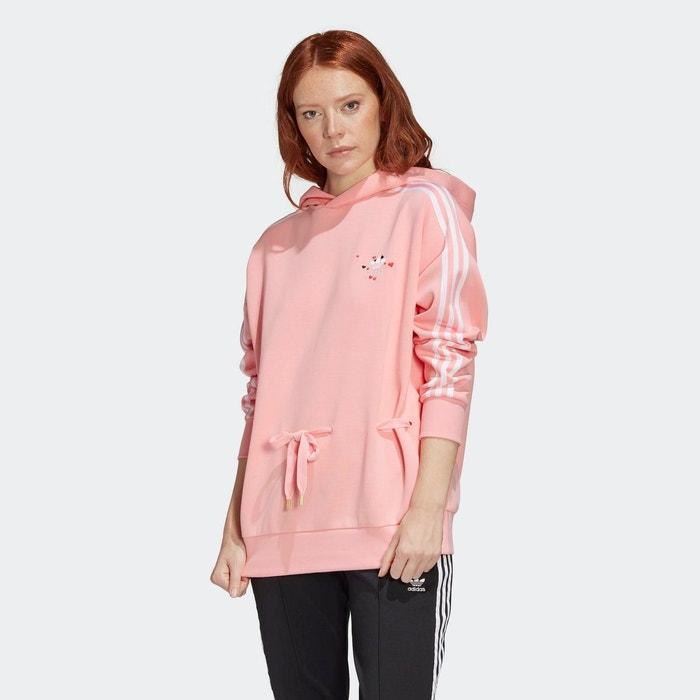 Sweat shirt à capuche rose Adidas Originals | La Redoute