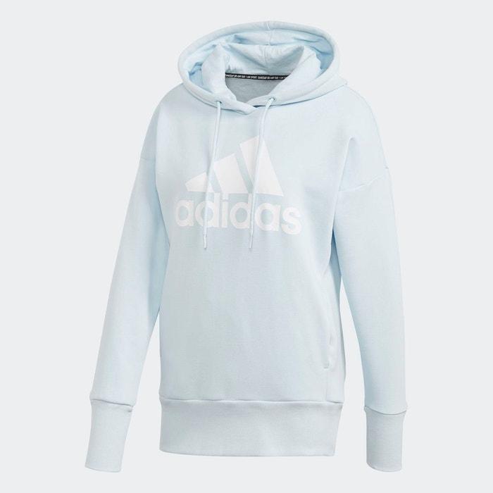 Sweat shirt à capuche badge of sport long blanc Adidas