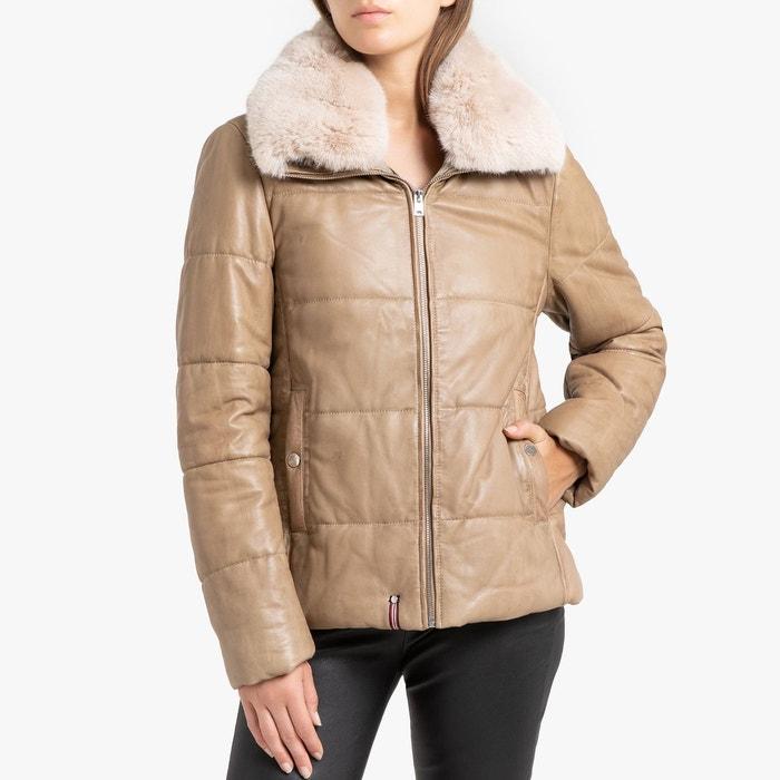 OAKWOOD Veste fausse fourrure 2 en 1 réversible manteau