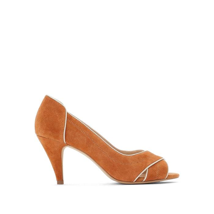 suede peep toe sandals