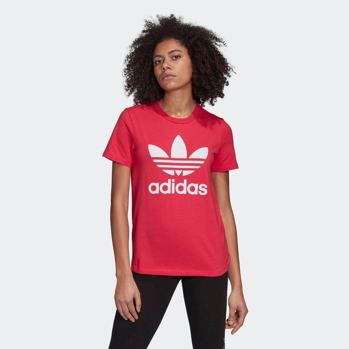 T shirt trefoil rose Adidas Originals | La Redoute