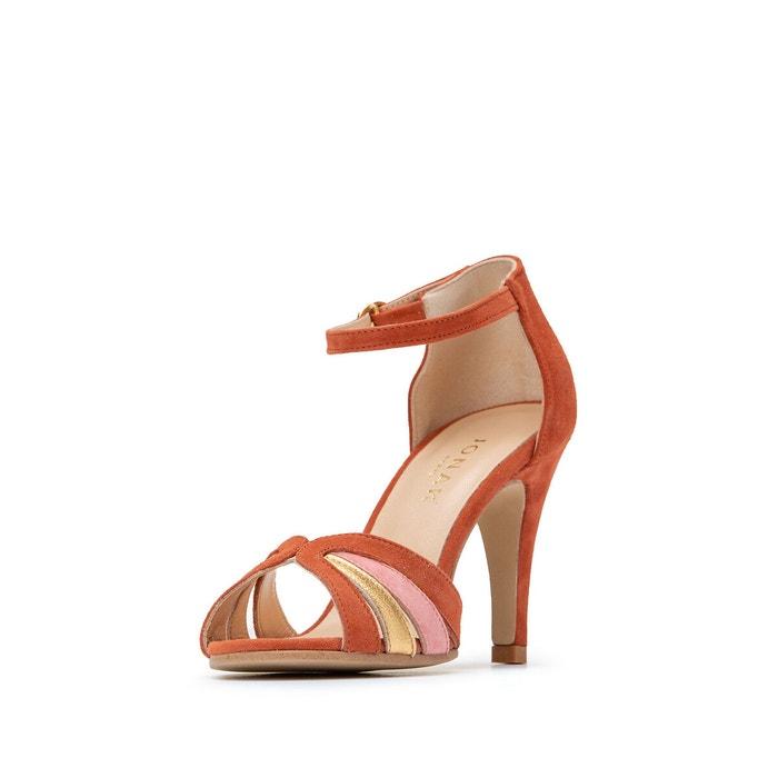 Sandales cuir à talon vaemis platine Jonak | La Redoute