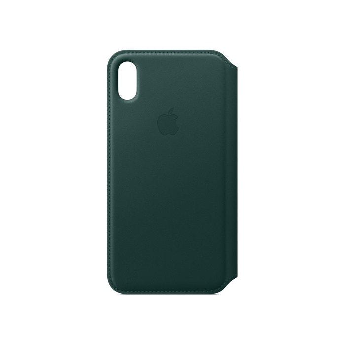 coque iphone xs apple cuir vert