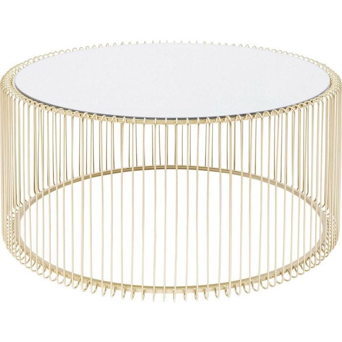 Table Basse Ronde Wire Laiton 80cm Or Kare Design La Redoute