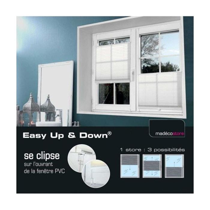 45x130cm,Cr/ème,0067BZL EUGAD Store Pliss/é sans Per/çage,Installation Rapide,Stores easyfix Style Moderne pour fen/être Contrevent/és