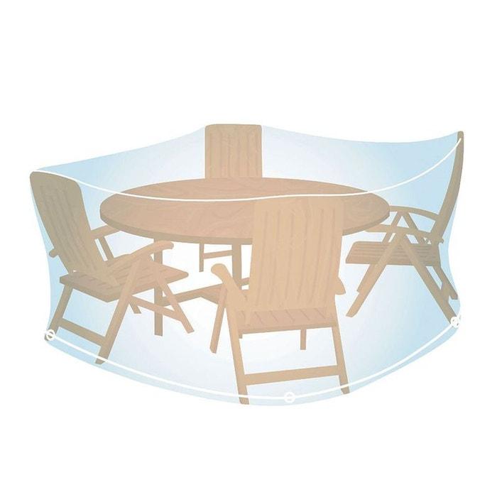 Housse de protection transparente pour salon de jardin rond Ø 150 cm