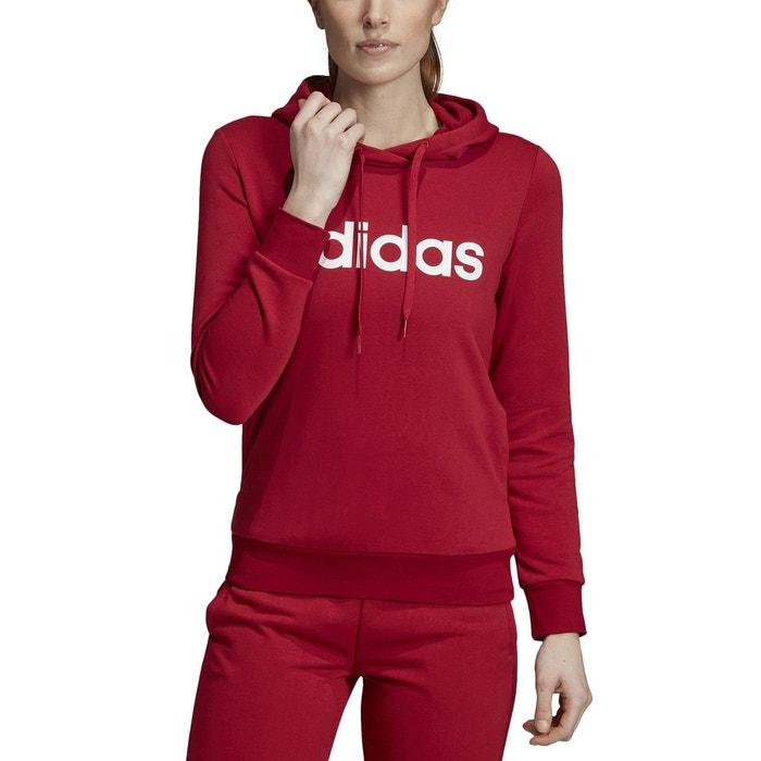 Sweat shirt essentials linear à capuche bordeaux Adidas