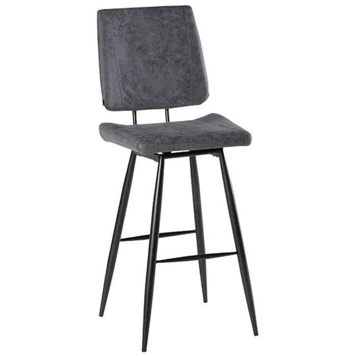 de de KERALA tissu bar style chaises et 2 vintage Lot en pieds gris métal eWDYEH29I