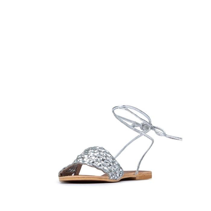 Sandales cuir jimmy argent Jonak | La Redoute