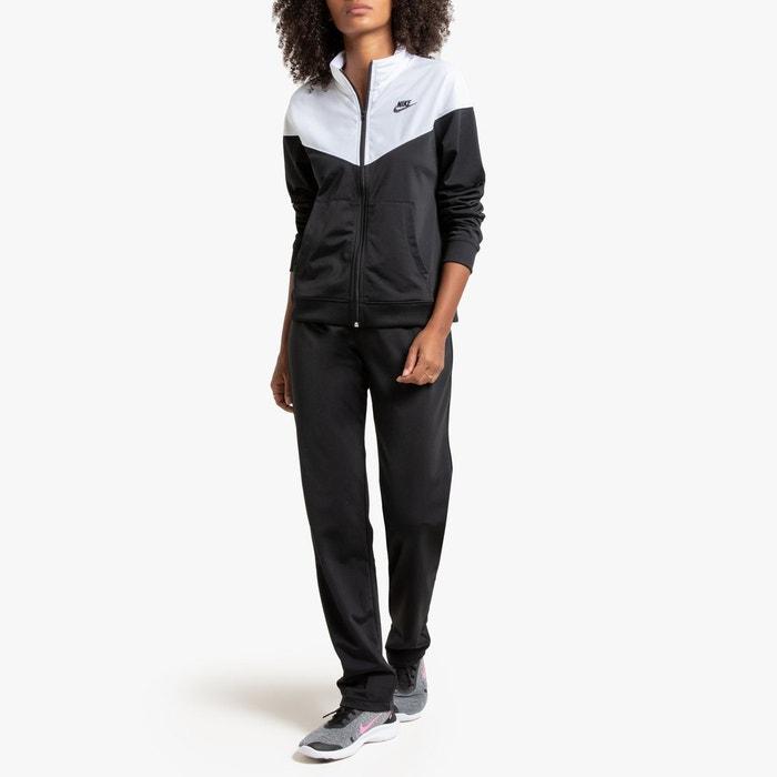 best cheap discount sale official store Ensemble survêtment veste zippée et pantalon noir/blanc Nike ...