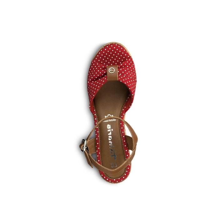 Sandaletten battia rot mit weissen punkten Tamaris | La Redoute