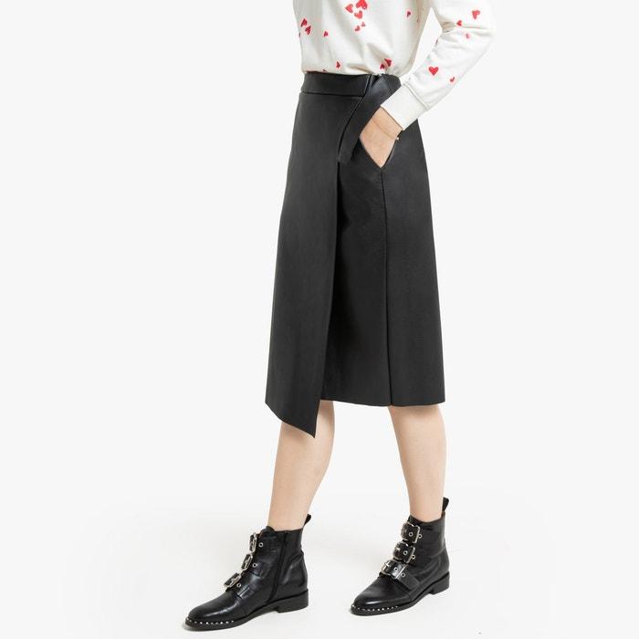 Jupe coton Satiné 2 poches ceinture comprises fabrication française