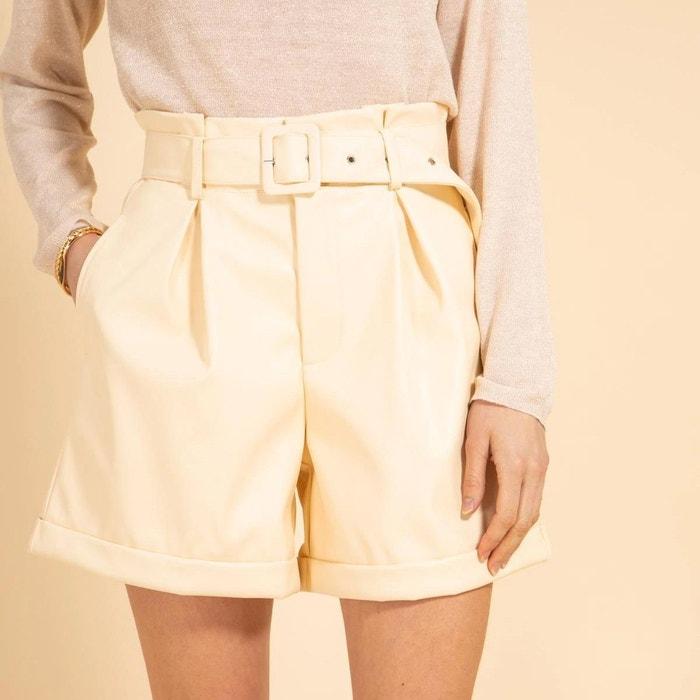 Short ceinture en simili cuir, quamby Cherry Paris   La Redoute