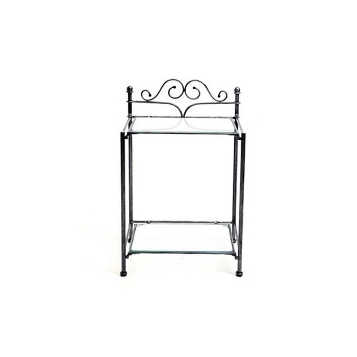 chevet Miliboo Table noire noir de métal baroque victoria 80OPnXwkNZ
