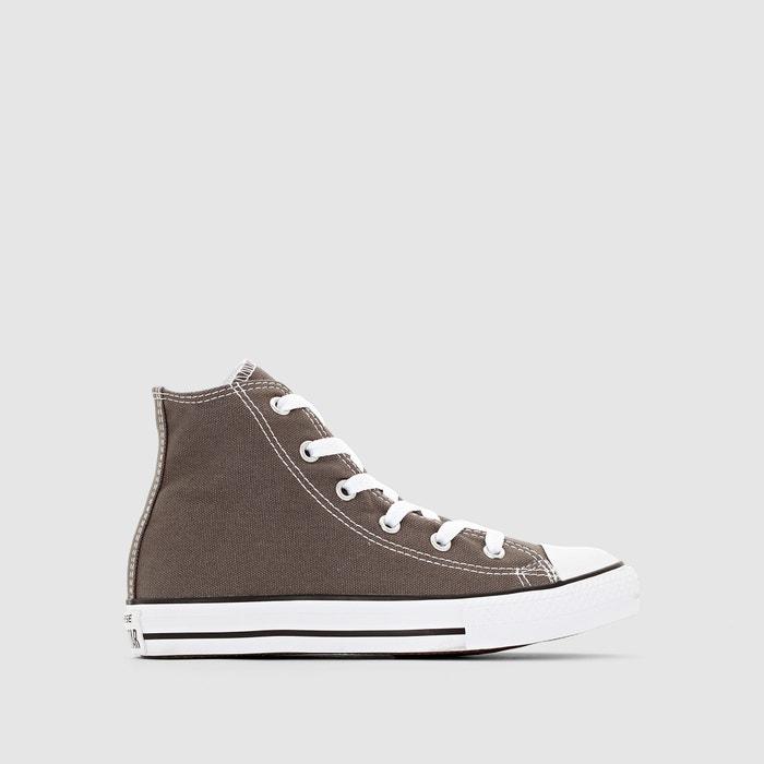 Zapatillas de caña alta chuck taylor all star hi canvas gris