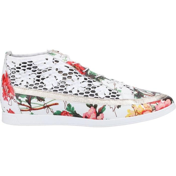 Baskets Femme Blanc Hogl Sneaker Cuir Magasin De Marque