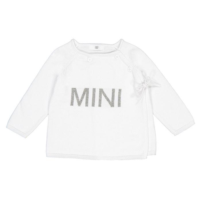 Casaco branco fofinho para criança com tamanho 18 meses