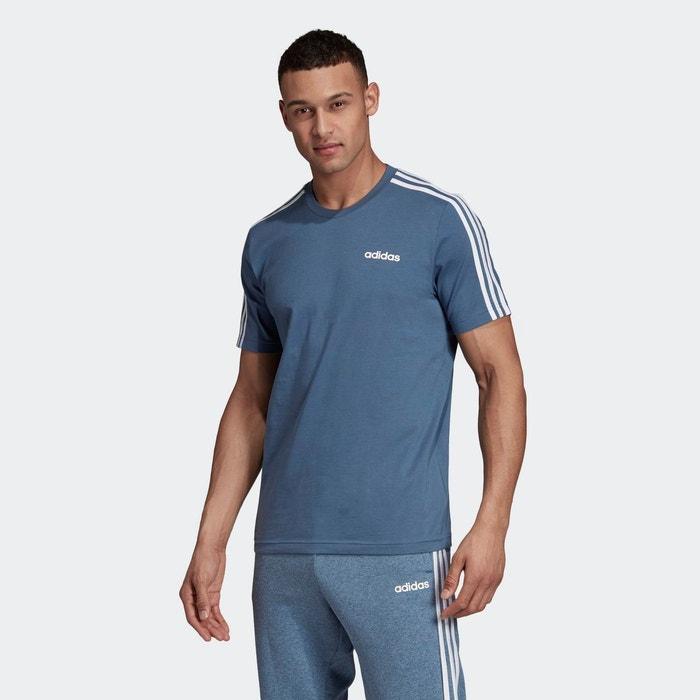T shirt 3 stripes bleu Adidas Performance | La Redoute